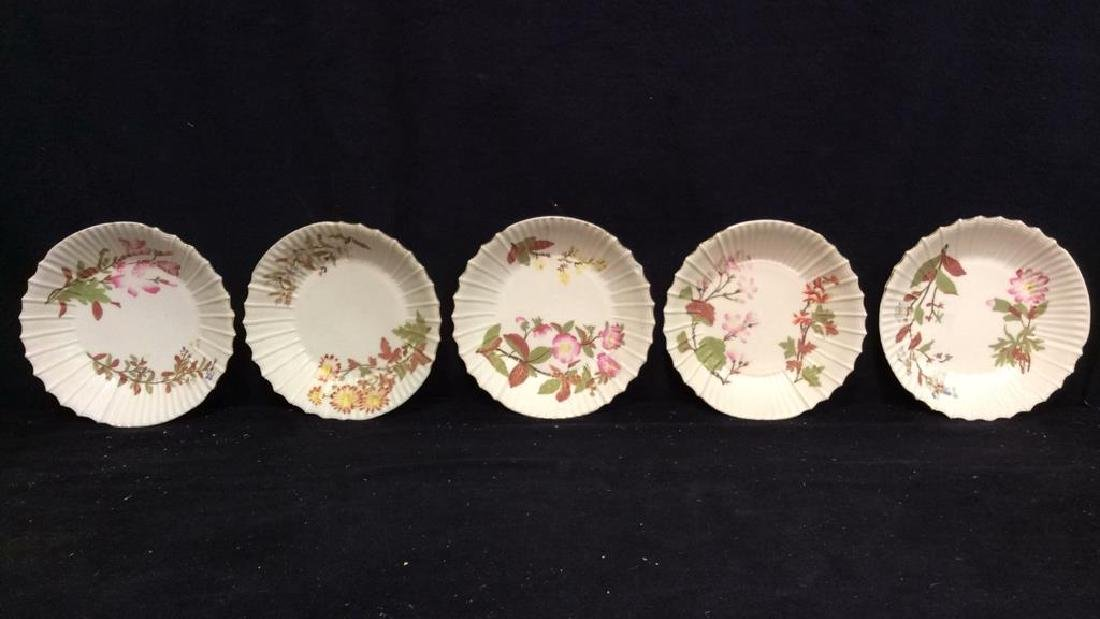 Lot 6 Porcelain Plates & Oval Serving Dish - 2