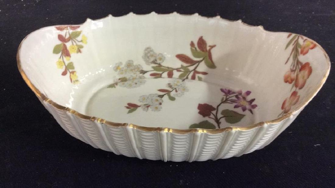 Lot 6 Porcelain Plates & Oval Serving Dish - 3