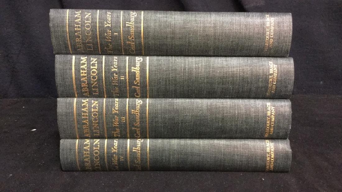 Group Lot Abraham Lincoln Volume I-IV Books