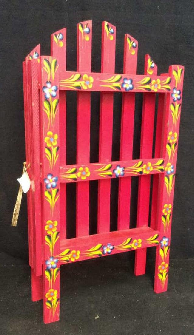 Pink Painted Cabinet What Not Shelf