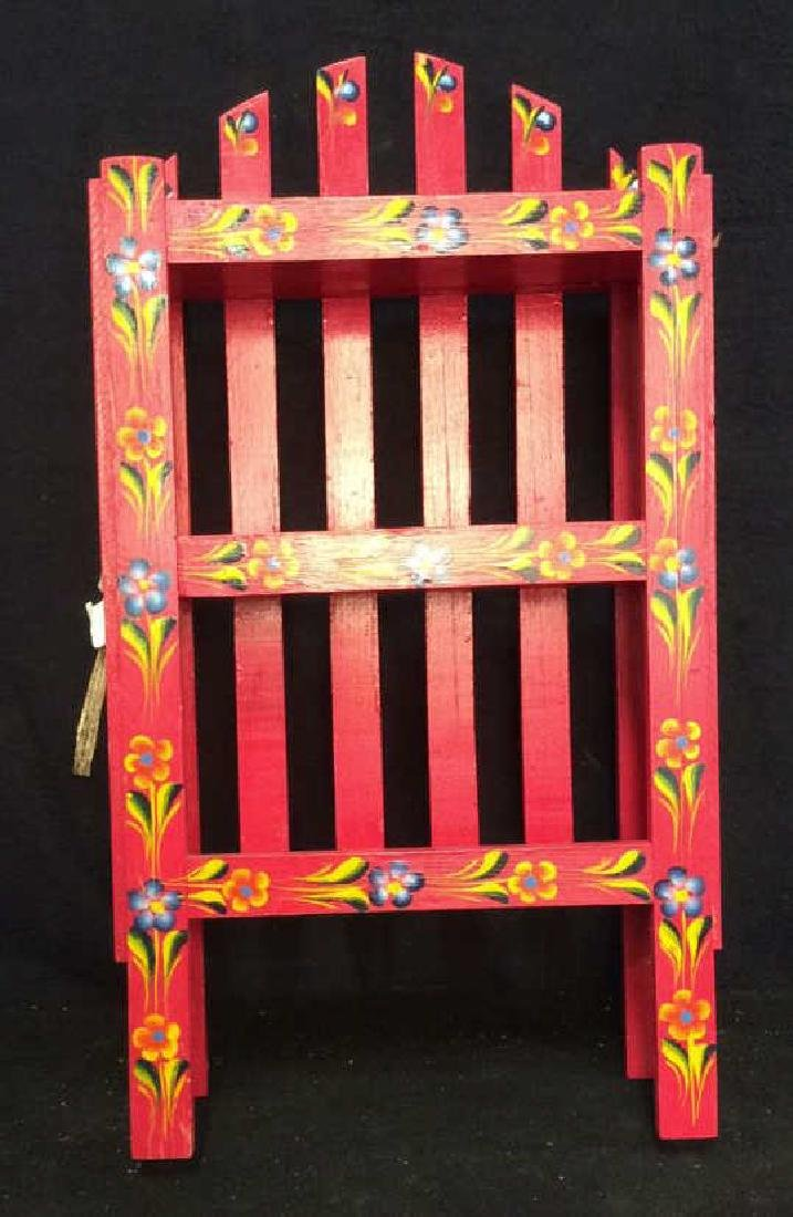 Pink Painted Cabinet What Not Shelf - 2