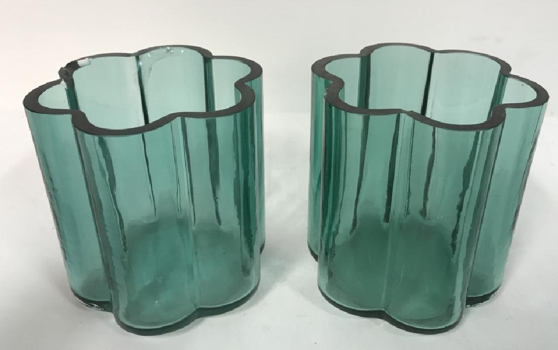 Set Of 3 Vintage Art Glass Vases - 4