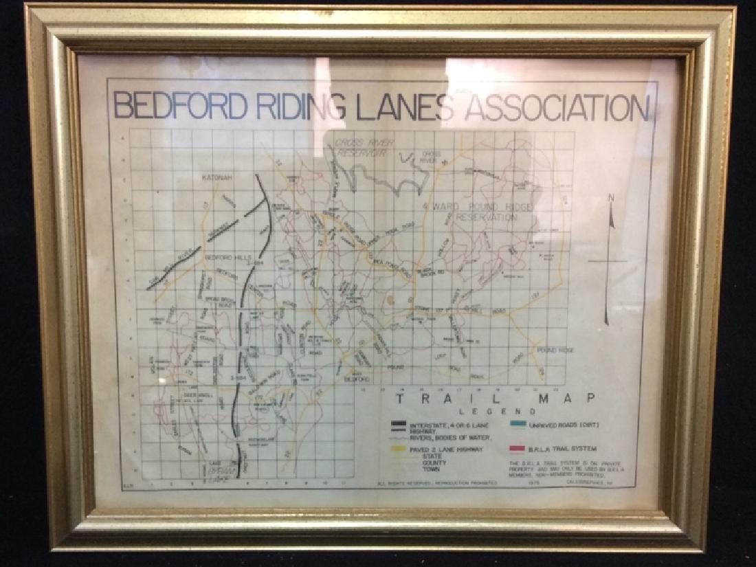 Framed Map of Bedford Riding Lanes Association