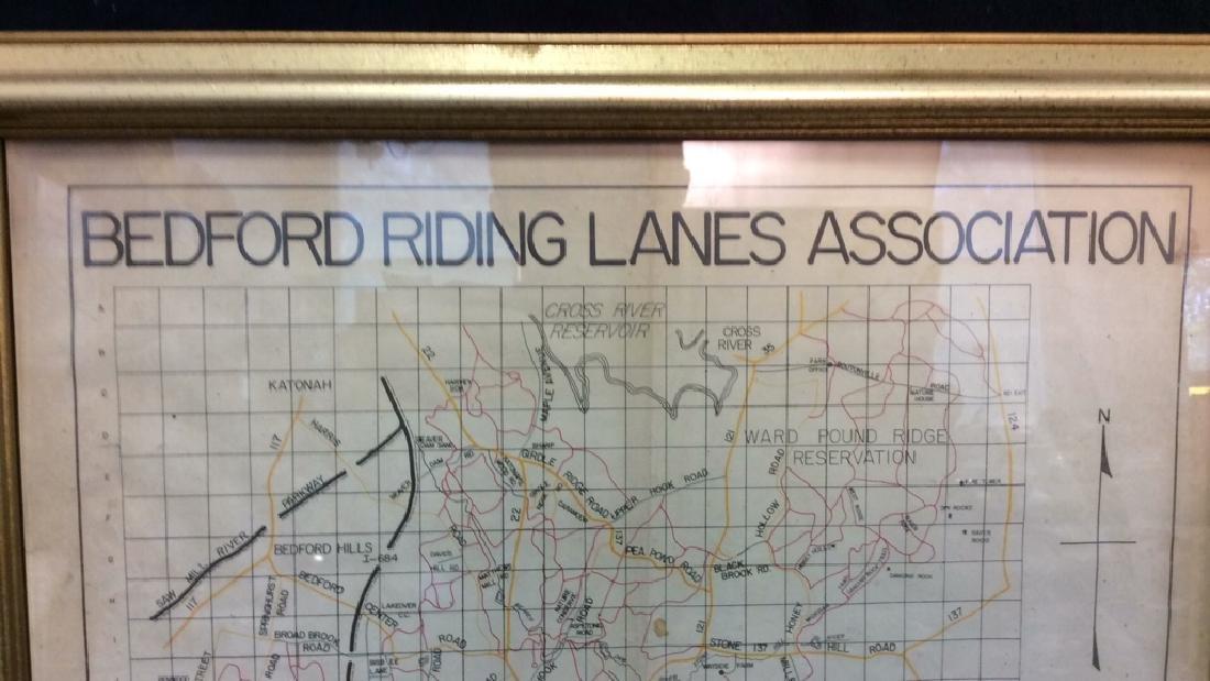 Framed Map of Bedford Riding Lanes Association - 2