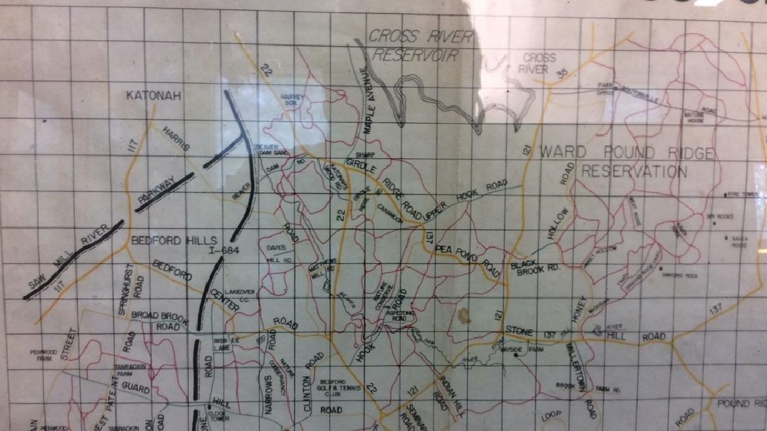 Framed Map of Bedford Riding Lanes Association - 3