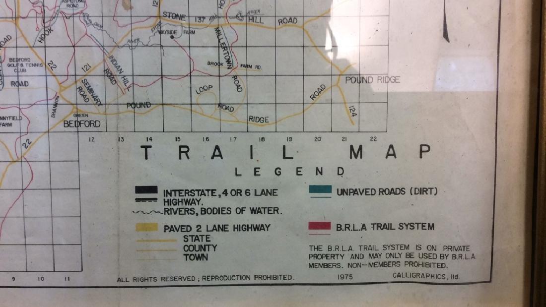 Framed Map of Bedford Riding Lanes Association - 4