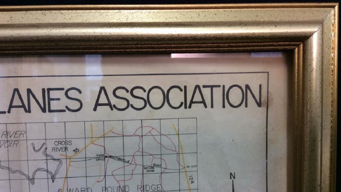 Framed Map of Bedford Riding Lanes Association - 5