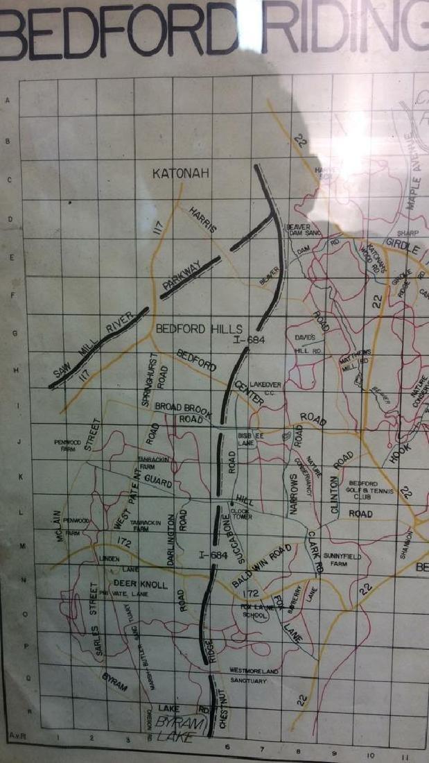 Framed Map of Bedford Riding Lanes Association - 7