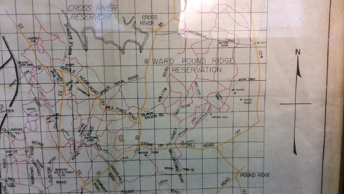 Framed Map of Bedford Riding Lanes Association - 8