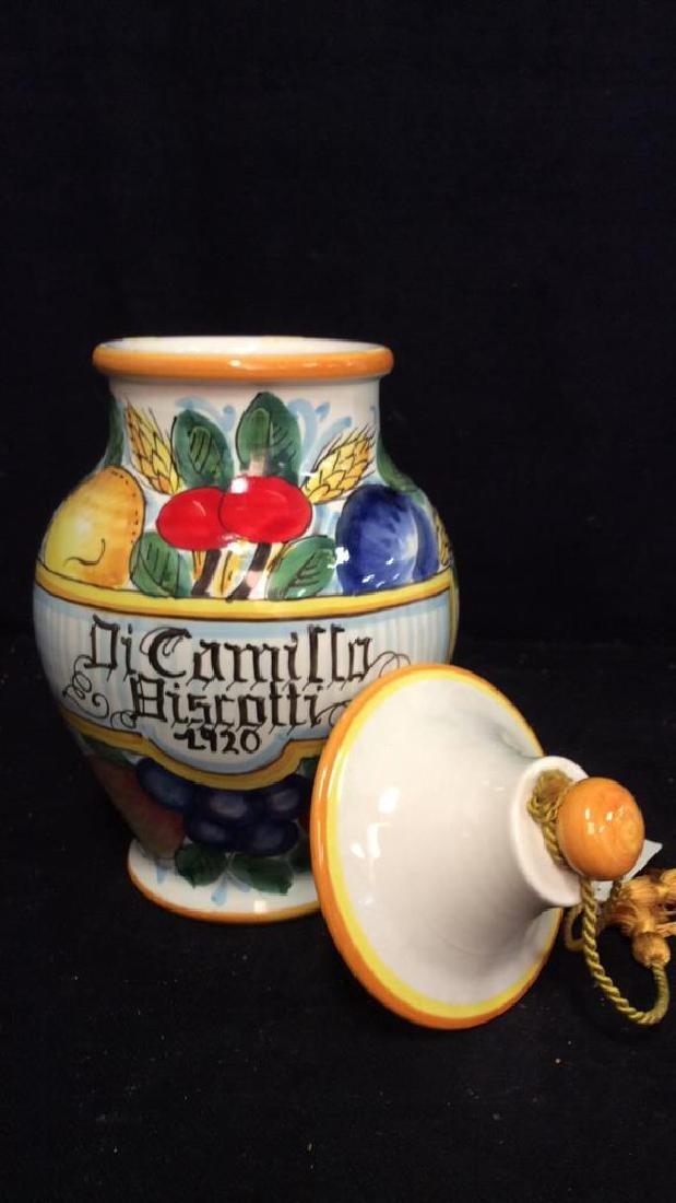 ITALIAN DICAMILLO BISCOTTI Lidded Ceramic Jar - 2