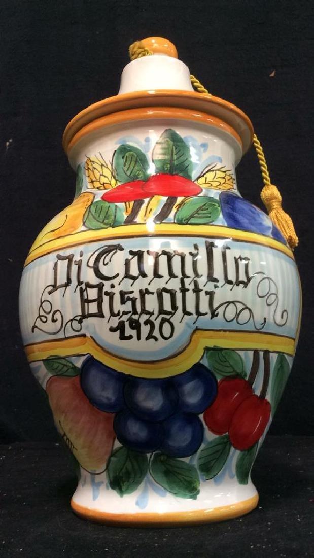 ITALIAN DICAMILLO BISCOTTI Lidded Ceramic Jar - 4