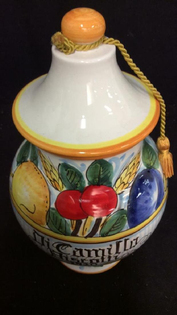 ITALIAN DICAMILLO BISCOTTI Lidded Ceramic Jar - 7