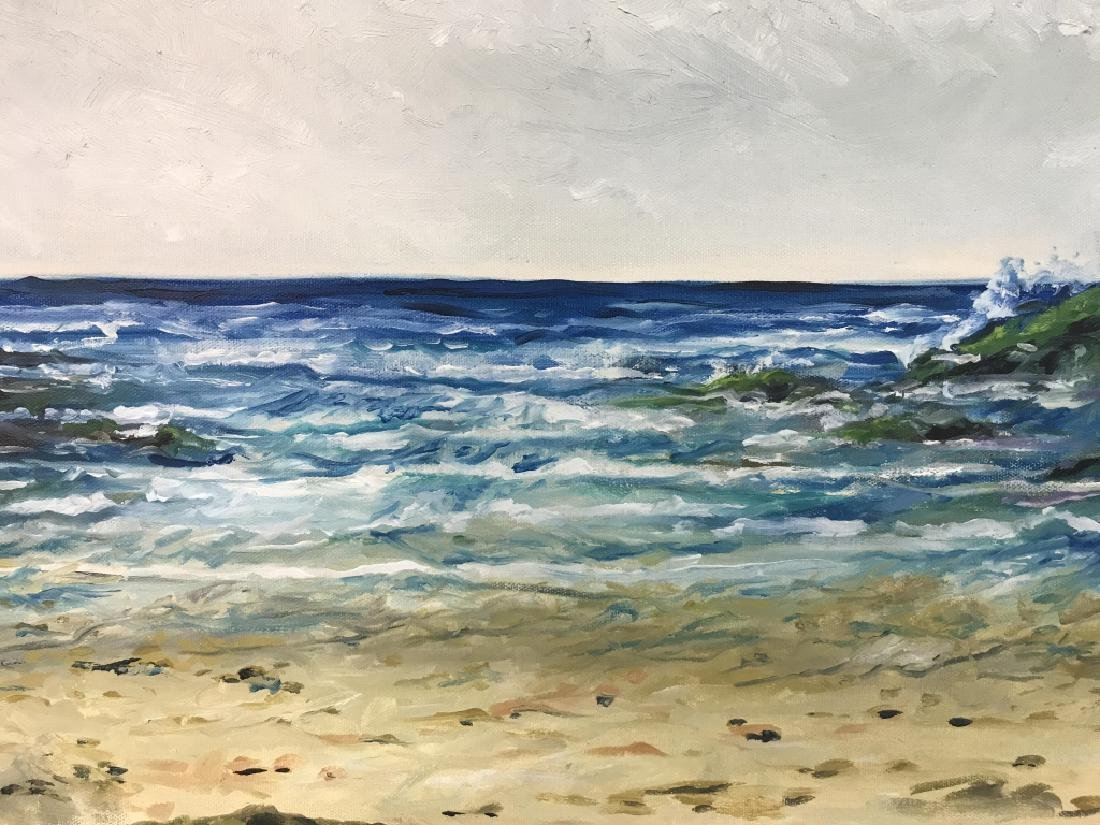 Painting Of Beach Scenery On Canvas - 3