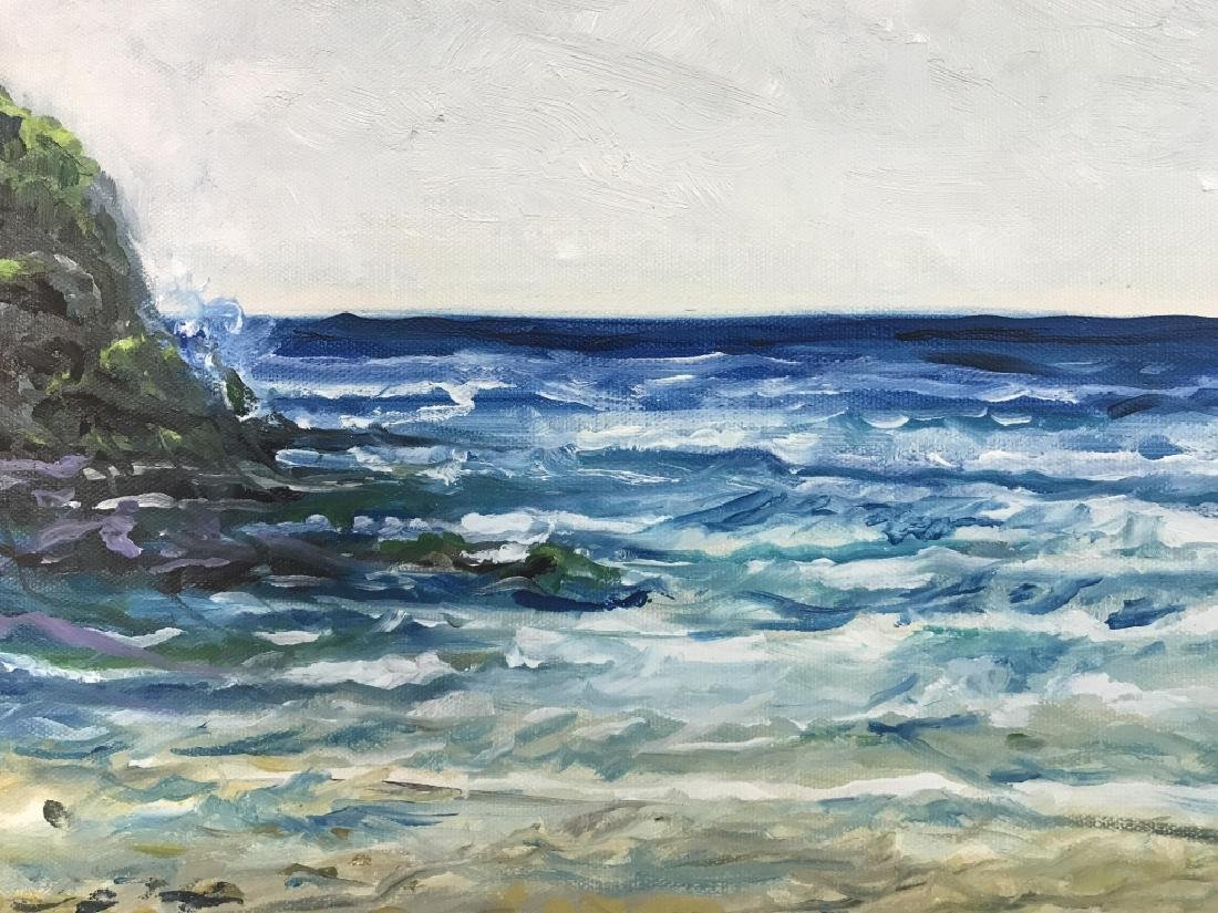 Painting Of Beach Scenery On Canvas - 5