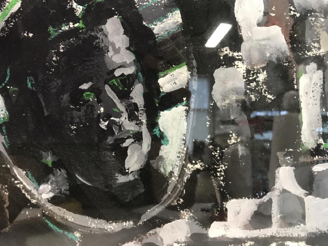 Framed & Matted Multi Toned Poss Collage Artwork - 4