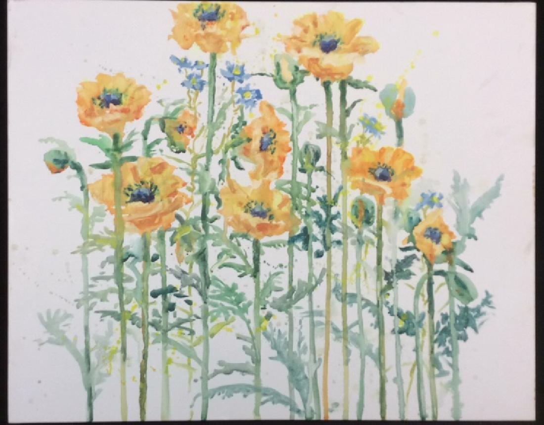 Wild Flower Painting On Canvas