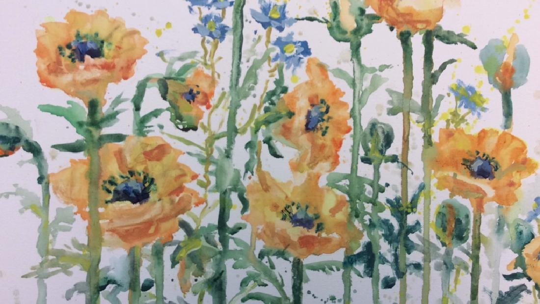 Wild Flower Painting On Canvas - 2