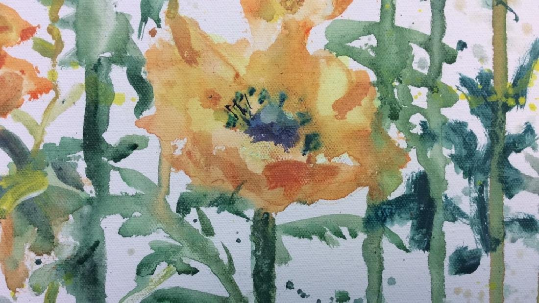 Wild Flower Painting On Canvas - 3