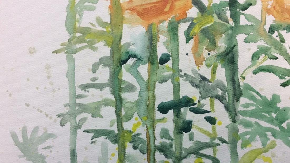 Wild Flower Painting On Canvas - 4