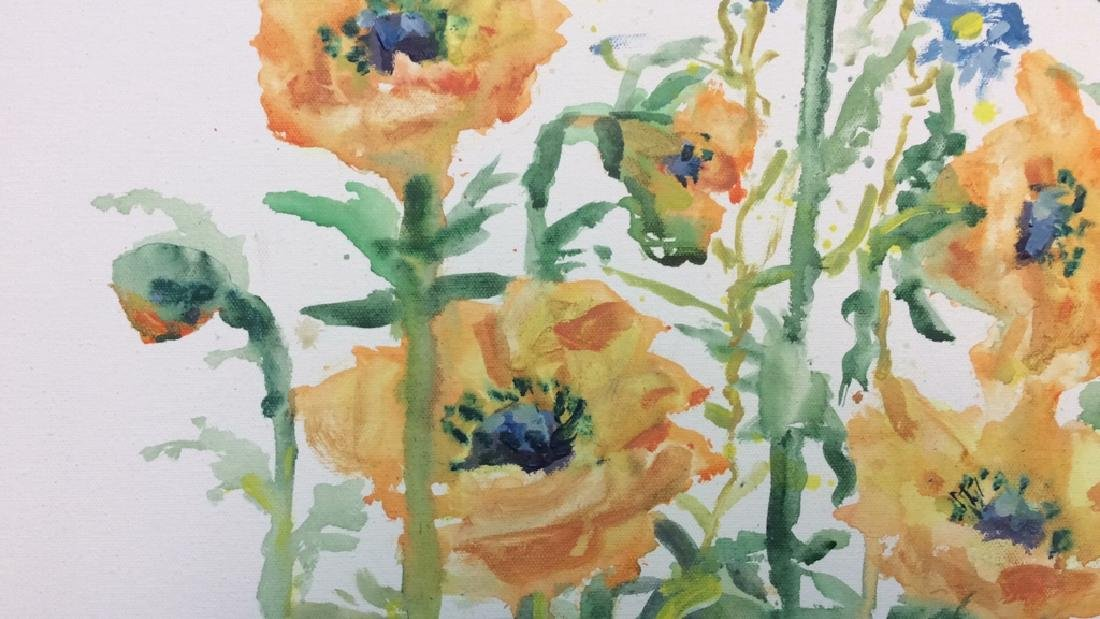 Wild Flower Painting On Canvas - 5
