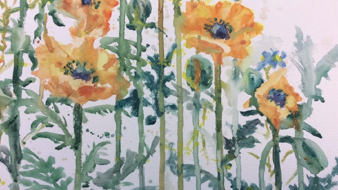 Wild Flower Painting On Canvas - 6