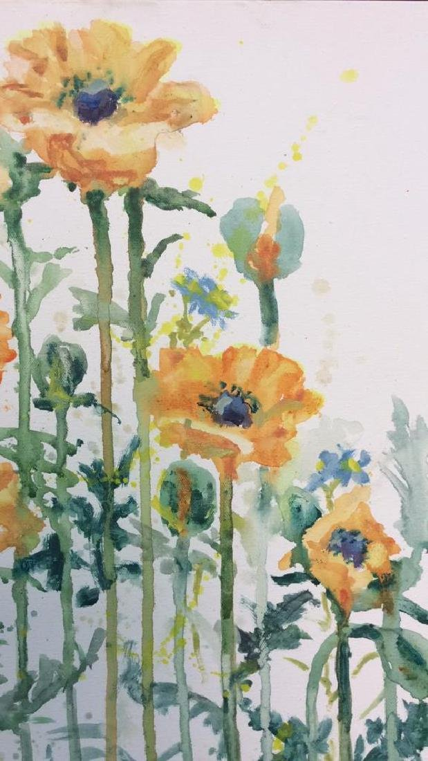 Wild Flower Painting On Canvas - 8