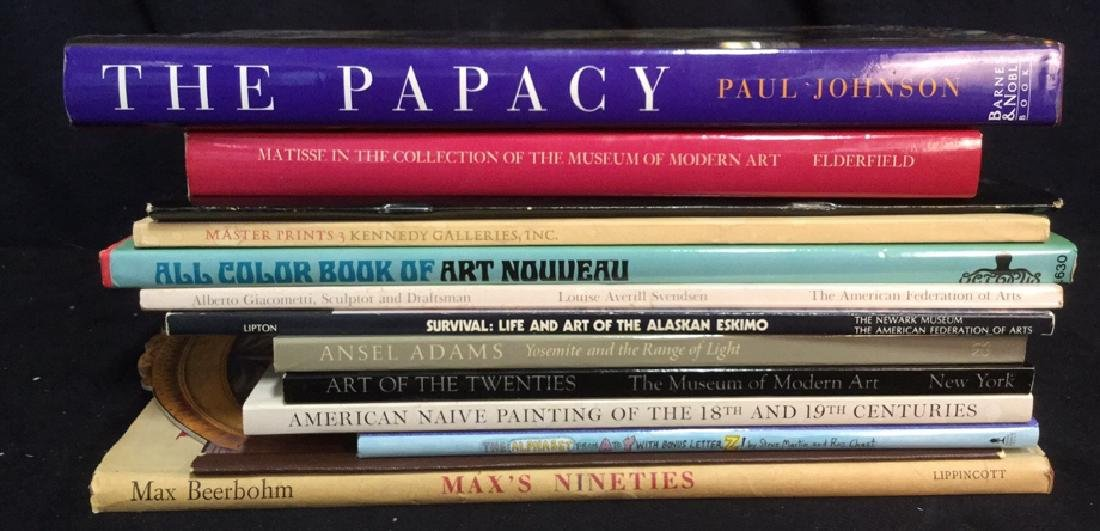 Group Lot Variety Art Coffee Table Books