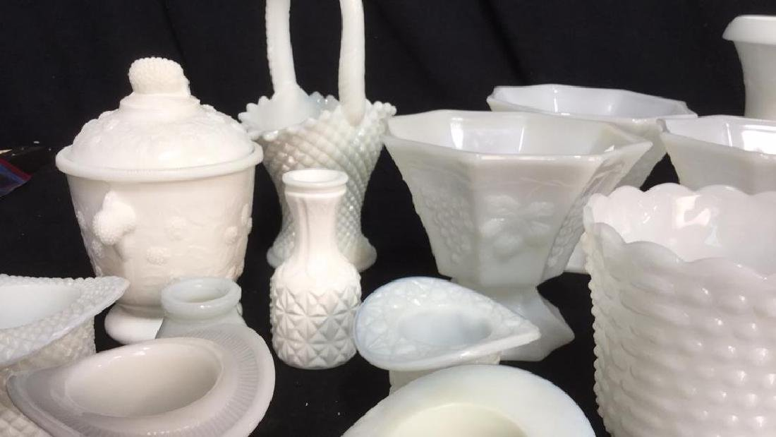 Over 20 Pieces Collectible Milk Glass Vessel - 4