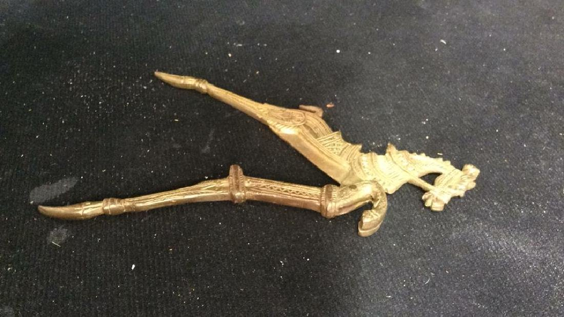 Group Collectible Brass Oddities and Desk Top - 8