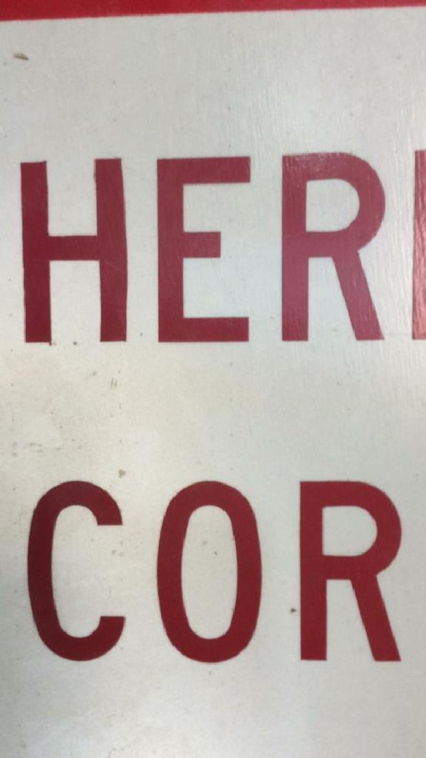 Vintage Painted Metal Road Sign - 5
