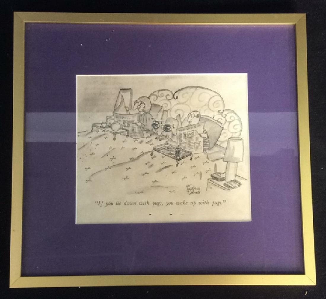 Framed Print Dog Cartoon Victoria Roberts