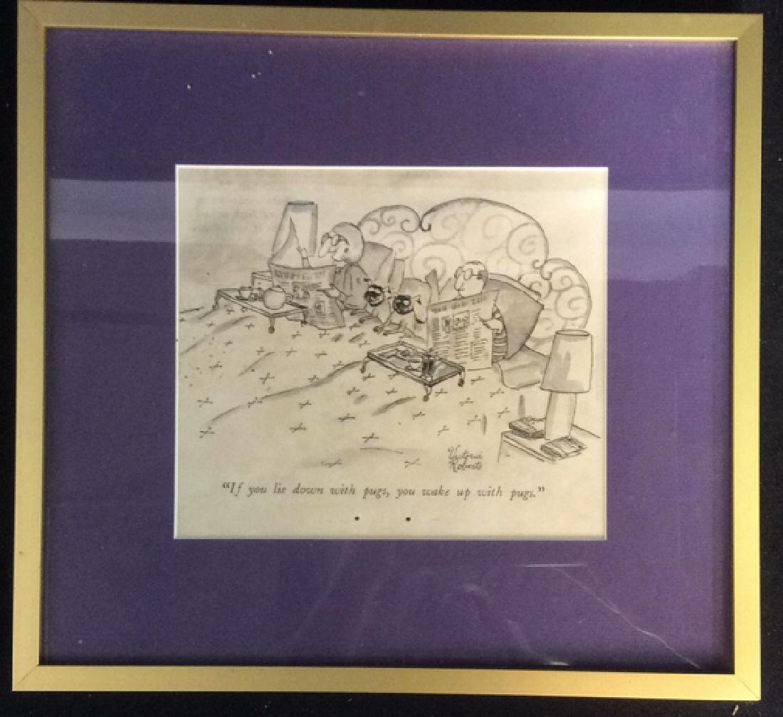 Framed Print Dog Cartoon Victoria Roberts - 2