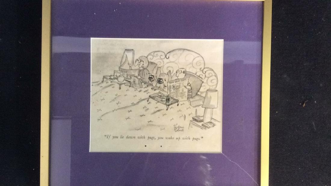 Framed Print Dog Cartoon Victoria Roberts - 3