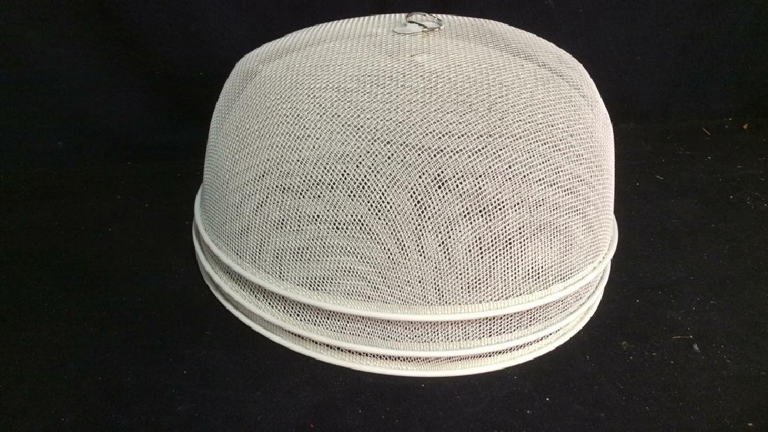 Set 3 Metal Mesh Domed Plate Protectors - 5