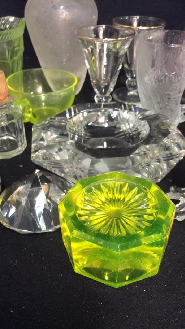 Group Lot 30 Vintage Glass and Crystal Tabletop - 10