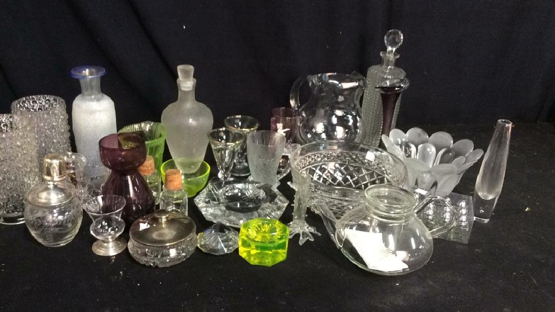 Group Lot 30 Vintage Glass and Crystal Tabletop - 2