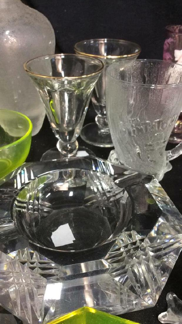 Group Lot 30 Vintage Glass and Crystal Tabletop - 9