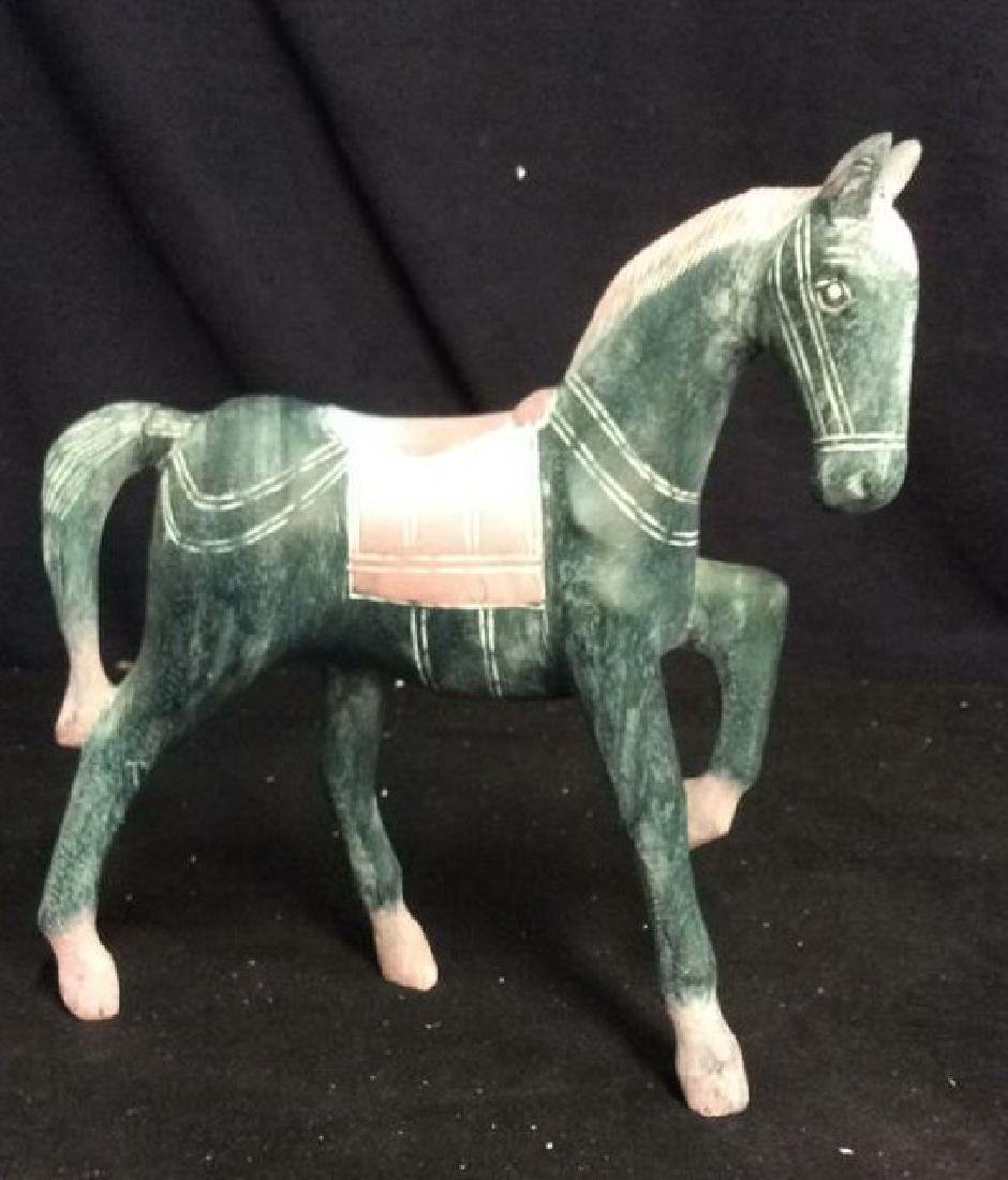Hand Crafted Painted Wood Horse Figure