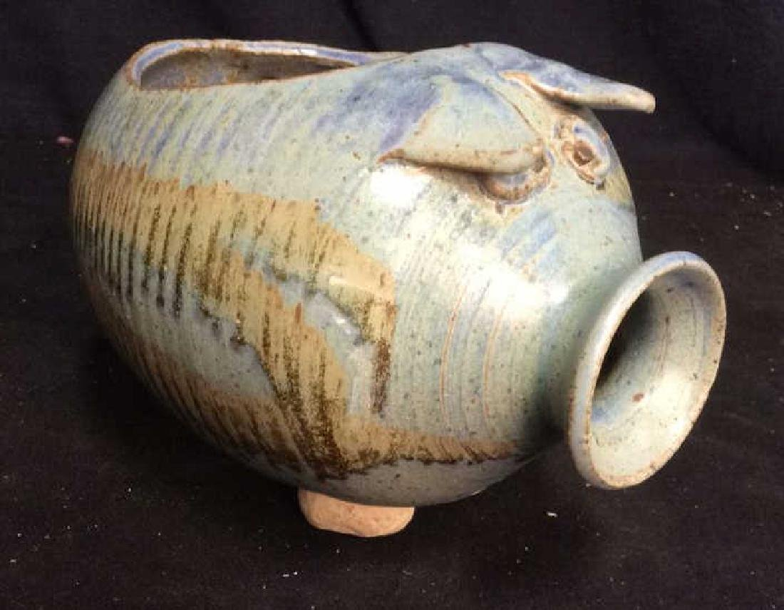 Hand Crafted Ceramic Pottery Pig
