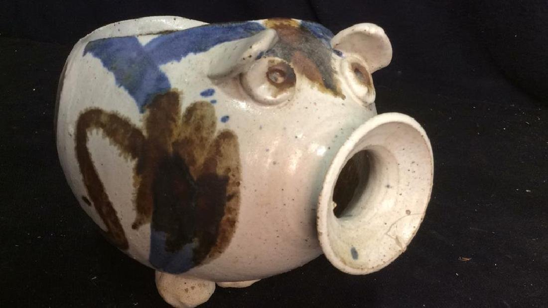 Hand Crafted Ceramic Pottery Pig - 8