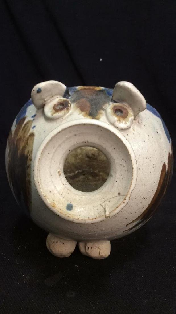 Hand Crafted Ceramic Pottery Pig - 9
