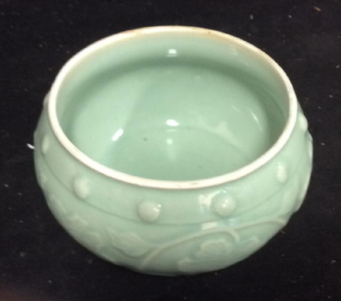 Celadon Glazed Ceramic Vessel