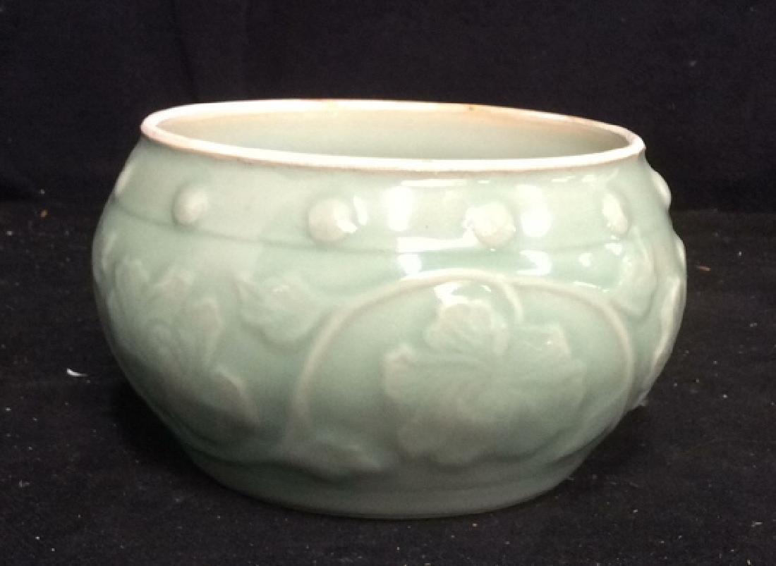 Celadon Glazed Ceramic Vessel - 3
