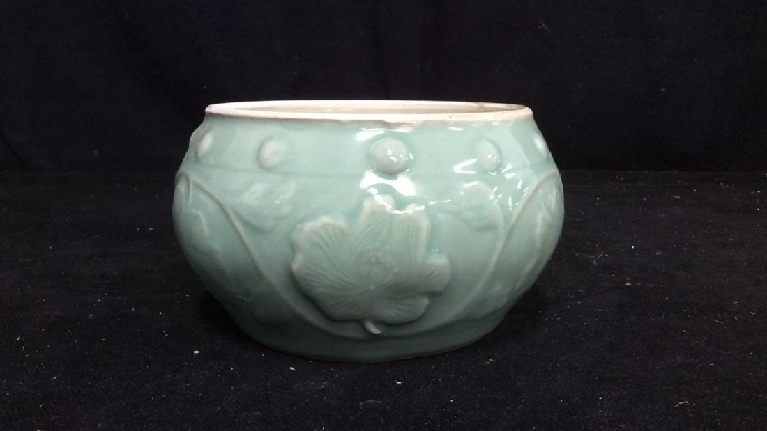 Celadon Glazed Ceramic Vessel - 4