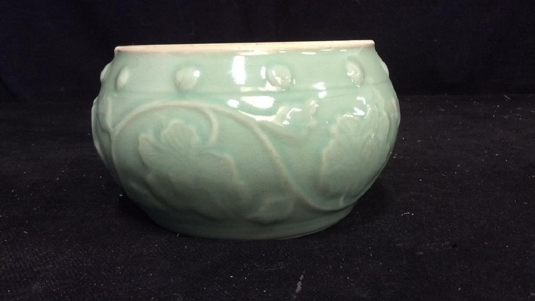 Celadon Glazed Ceramic Vessel - 5