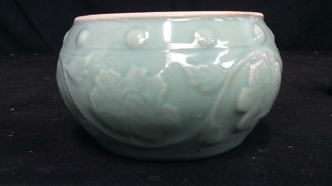 Celadon Glazed Ceramic Vessel - 6