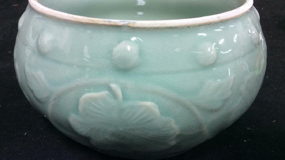 Celadon Glazed Ceramic Vessel - 7