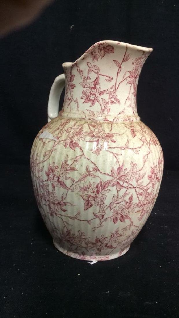 Victorian Chintz Style Porcelain Ewer, Lillac - 4