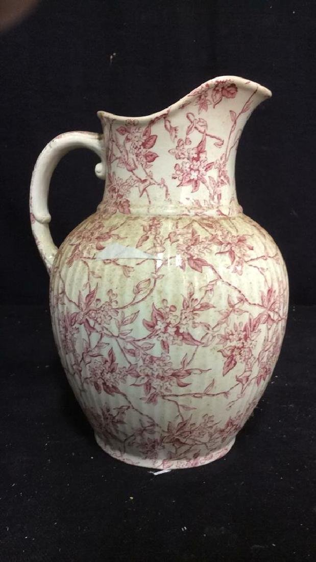 Victorian Chintz Style Porcelain Ewer, Lillac - 5