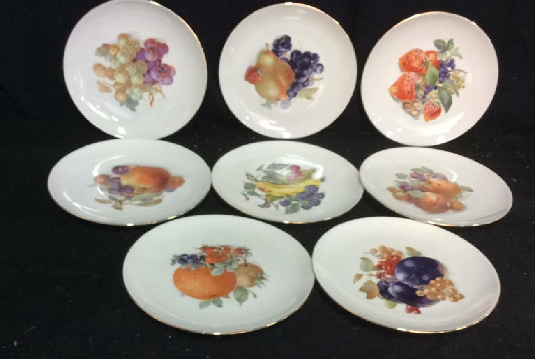 8 Winterling Germany Painted Fruit Porcelain